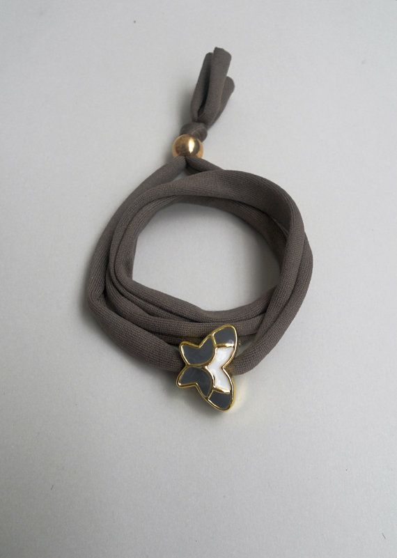 Triple wrap butterfly braceletGolden enameled by StigmaHandmade