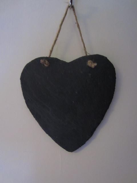 Chalkboards - large heart-shaped slate
