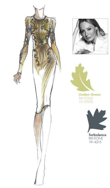 #FRCF13 Designer Inspiration: Hervé Léger by Lubov Azria http://pantone.com/Fall2013