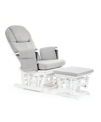 This reclining glider chair is the perfect place to sit and relax during your pregnancy, and ideal when breastfeeding your baby