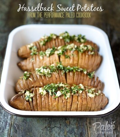 Paleo Hasselback Sweet Potatoe recipe - paleocupboard.com