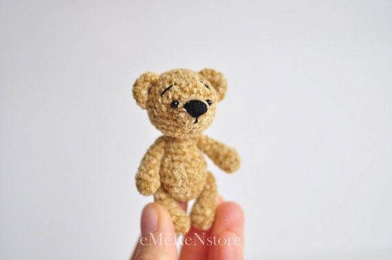 Small+teddy+bear+Crochet+Teddy+bear++Amigurumi+Cutie+Bear+