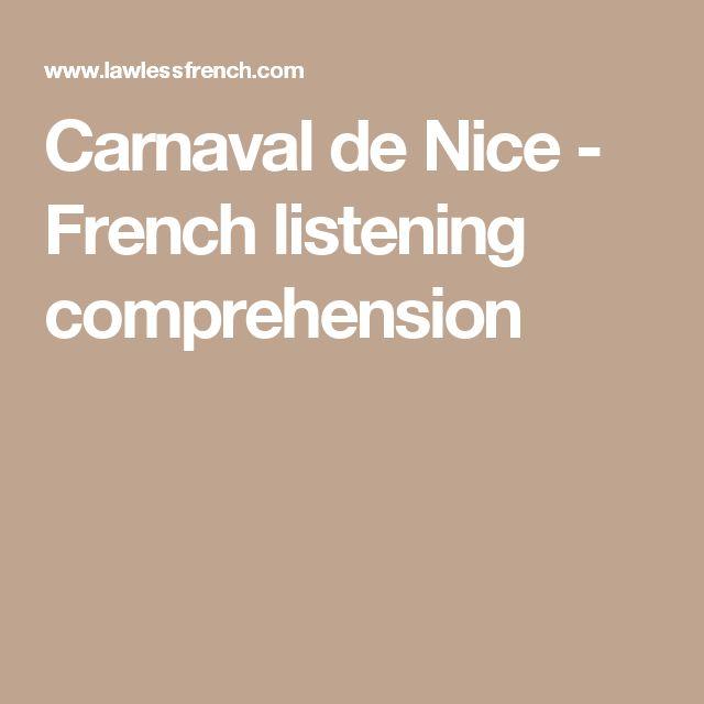 Carnaval de Nice - French listening comprehension