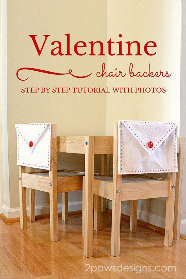 Create your own Valentine's Felt Envelope Chair Backers with this easy DIY sewing tutorial.