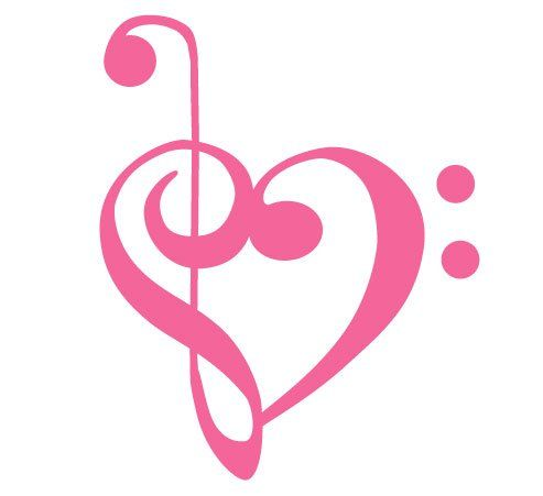 treble clef and base clef heart tattoo I will get this