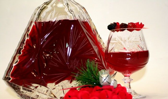Domácí brusinkový sváteční likér