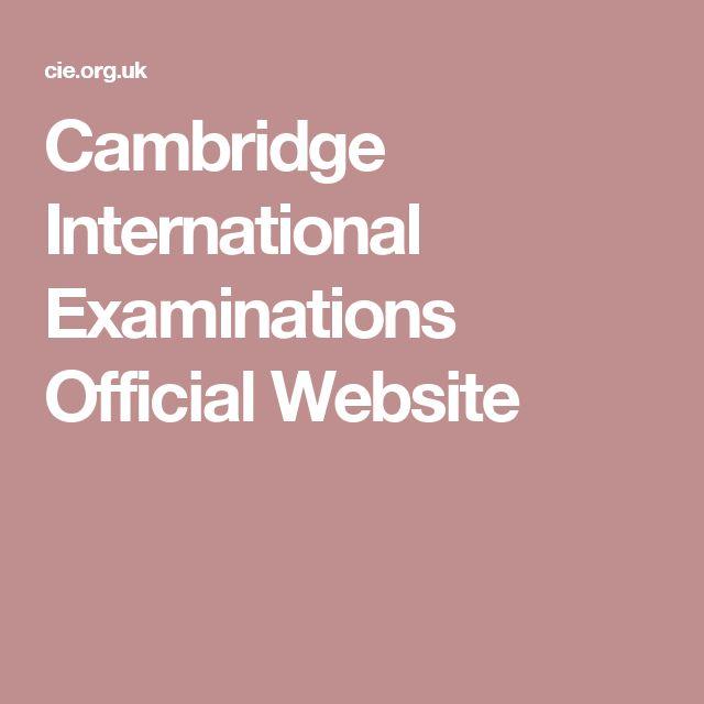 Cambridge International Examinations Official Website