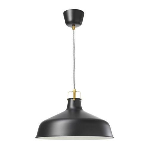 IKEA - RANARP, Pendant lamp, black, , Gives a directed light. Good for lighting dining tables or a bar area.