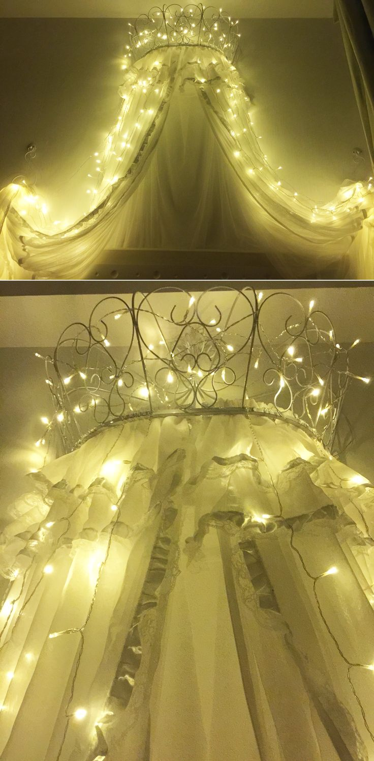 Add an elegant touch to any bedroom with a bed canopy. You can decorate the & The 25+ best Bed canopy lights ideas on Pinterest | Dorm bed ...