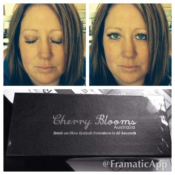 Cherry blooms mascara. This is just 1 coat. Best mascara ever ... Love it !!!!