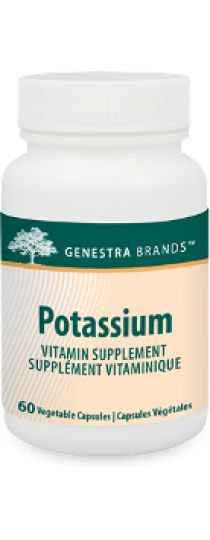 Potassium by Genestra - provides a widely used citrate form of this mineral.  An increase in potassium intake has beneficial effects on the cardiovascular system and bone health.