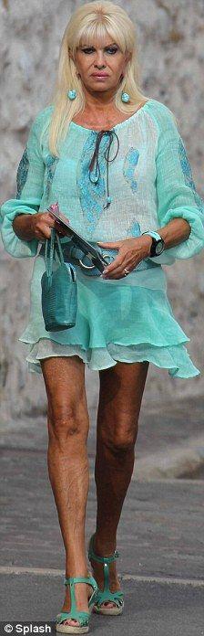 Ivana Trump in turquoise