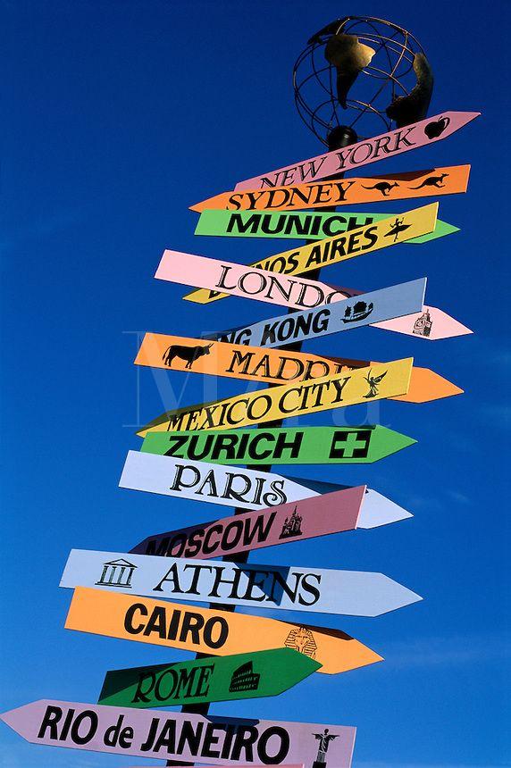 Destination sign.