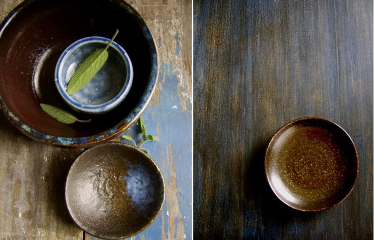 rustic blue stains on wood