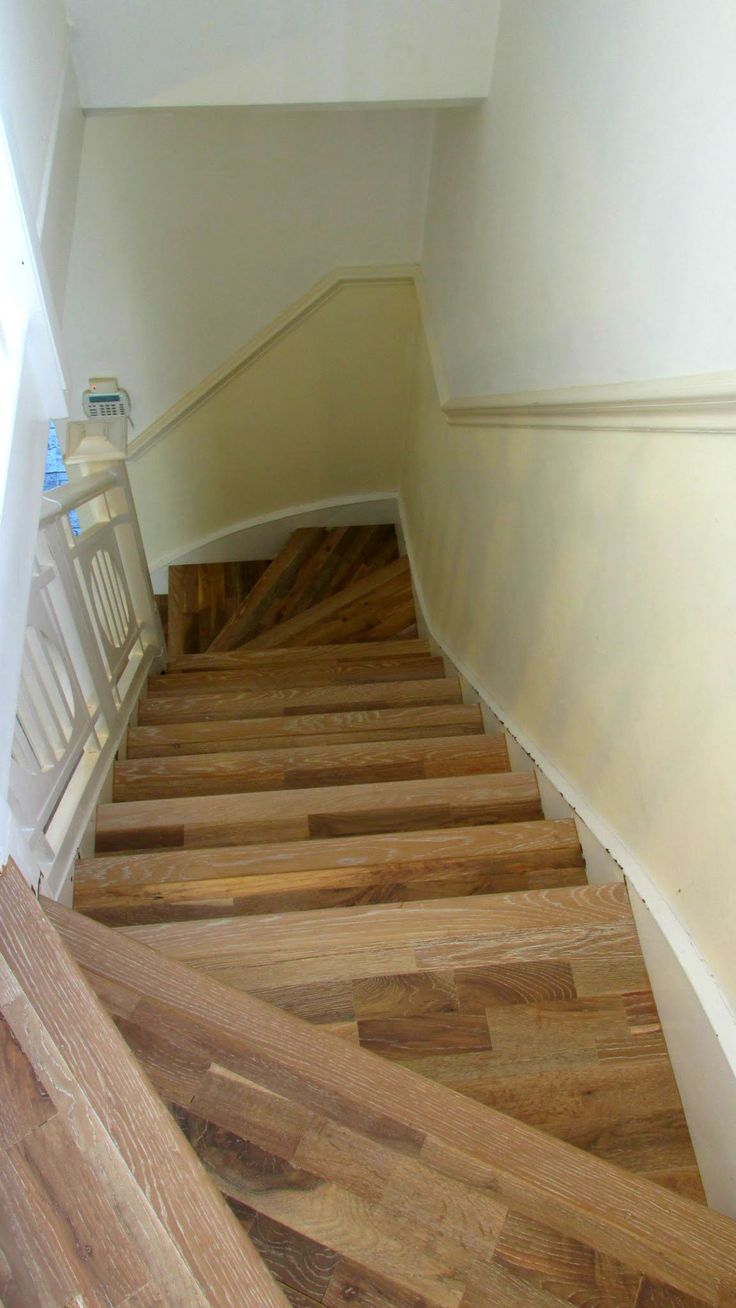wonderful wood stair risers | 56 best Wood Stair Cladding images on Pinterest