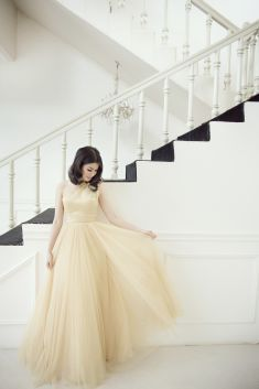 Soft tones bridesmaids' dress | This is amazing! Head over to Petite