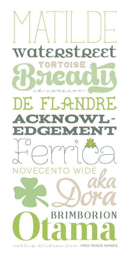 pretty free fonts: Inspiration Free, Pretty Free, Typography Free, Free Fonts, Green Fonts, Prince Paperi, Frogs Prince, Tiny Bit, Green Typography