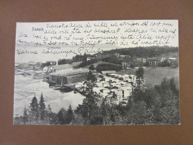 RAMVIK SÅGVERK 1913, Högsjö, Ångermanland.