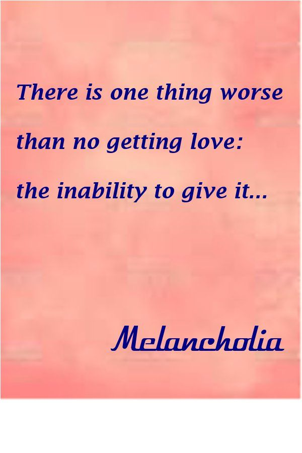 There is one thing worse than no getting love: the inability to give it...