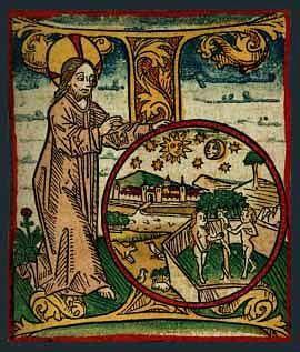 'I' - inicjał z Biblii Zainera wydanej w Augsburgu w r. 1475