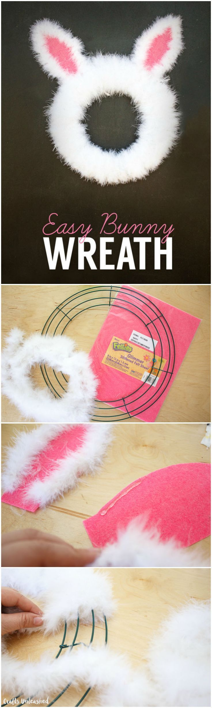 Fast and easy diy easter decorations - Easter Wreath Diy Spring Bunny Tutorial Crafts Unleashed