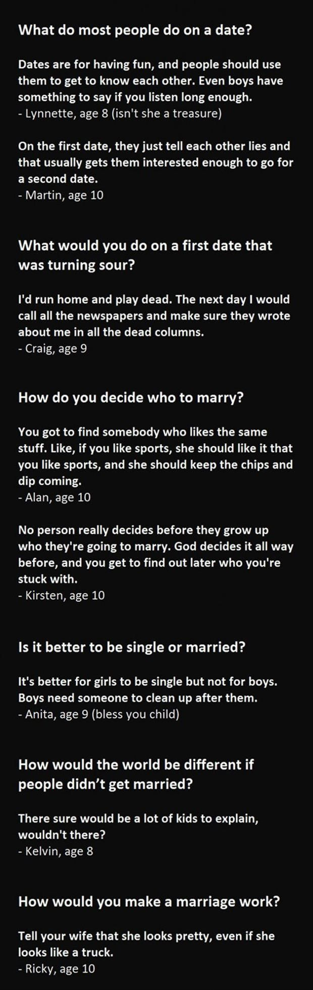 Dump A Day 15 Kids Give Their Opinions About Marriage. Hilarity Ensues...