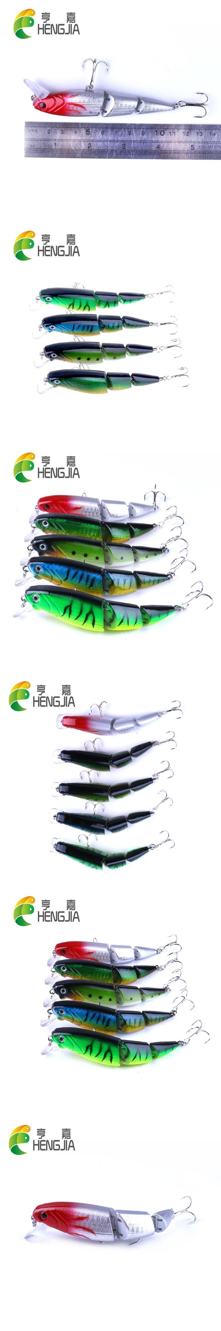HENGJIA 10.5cm 14g hard plastic jointed minnow fishing lures artificial wobblers crankbaits carp catfish pesca swimbaits tackles