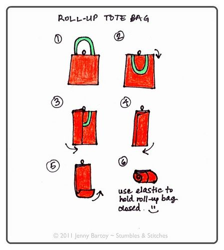 Roll-Up Tote Bag Instructions