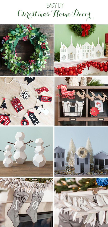 25 Handmade Christmas Craft Ideas | Print & Cut Home Decor Ideas You'll Love To Make | @kimbyers