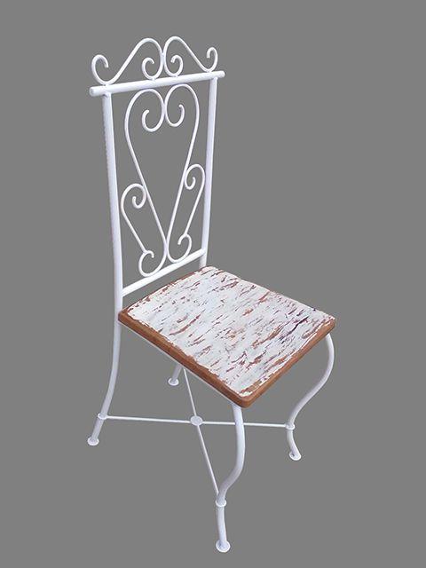 Cadeira Robin em Madeira e Ferro - Cód 415  - Porta Papel Higiênico - Madeira e Ferro - Barrocarte