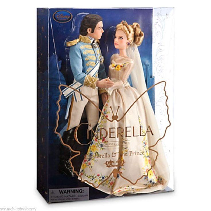 Disney Princess Cinderella Singing Doll And Costume Set: Disney Store Cinderella And The Prince Doll Set Live