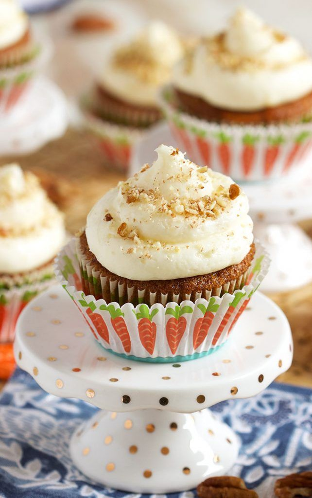 Super easy to make, Carrot Cake Cupcakes with Cream Cheese Frosting are tender and moist. The perfect cupcake recipe for any occasion.   @suburbansoapbox