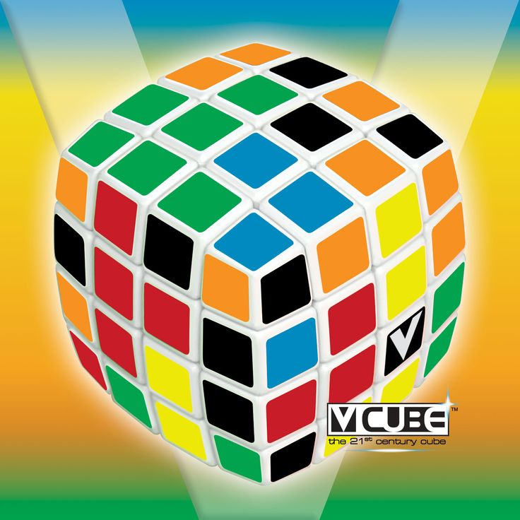 V-Cube 4 Layers Pillow 4x4x4 - rotational Cube Twisty Puzzle Game! BAY he essential pillow-shaped version in WHITE! V-CUBE 4™ is a multicored, four-layered cube with exceptional quality and incredibly smooth rotation. V-CUBE 4™ has approximately 7.40 * 10^45  possible permutations and weights only 157g!