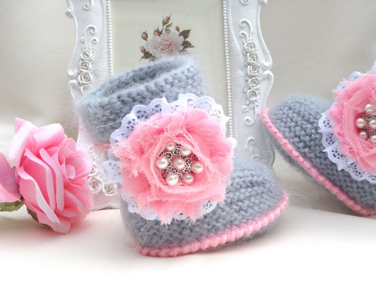 Baby Shoes Baby Girl Booties Baby Clothes Children by Solnishko42, $45.00