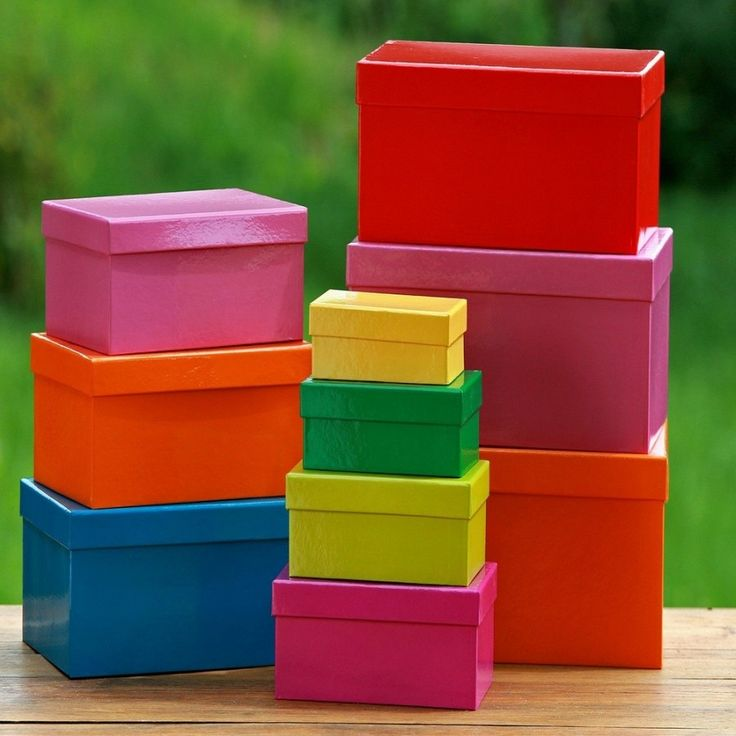 Set 10 cutii depozitare 13,5 - 32,5 cm