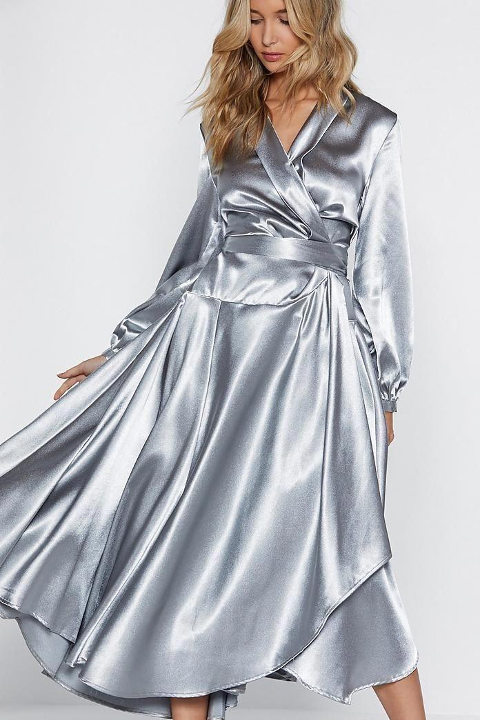 Cheap High Fashion Women S Clothing Womensfashion30yearsold Id 8136603490 Modische Kleidung Satinkleid Kleidung