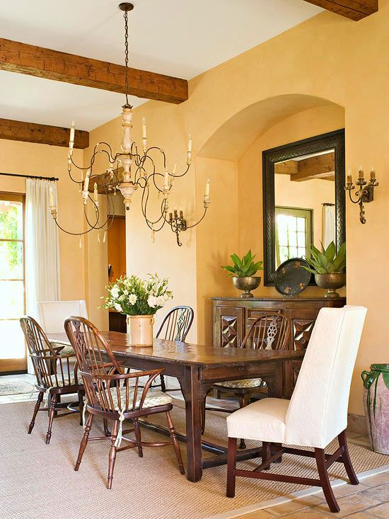 small space dining rooms - Colorful Dining Room Tables
