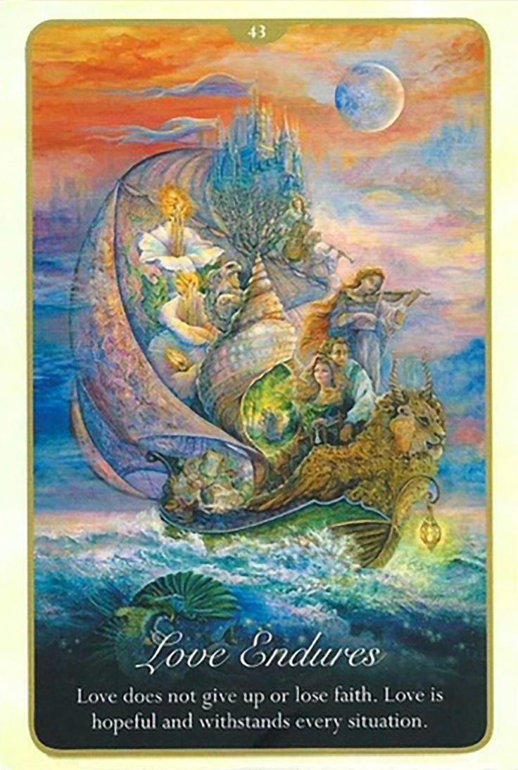 """43 Love Endures"" Oracle Cards Whispers of Love par Josephine Wall and Angela Hartfield"