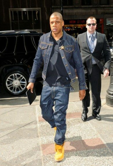 Jay-z Headed Off To The Office In A Jean Suit. Classic Jay-z Style