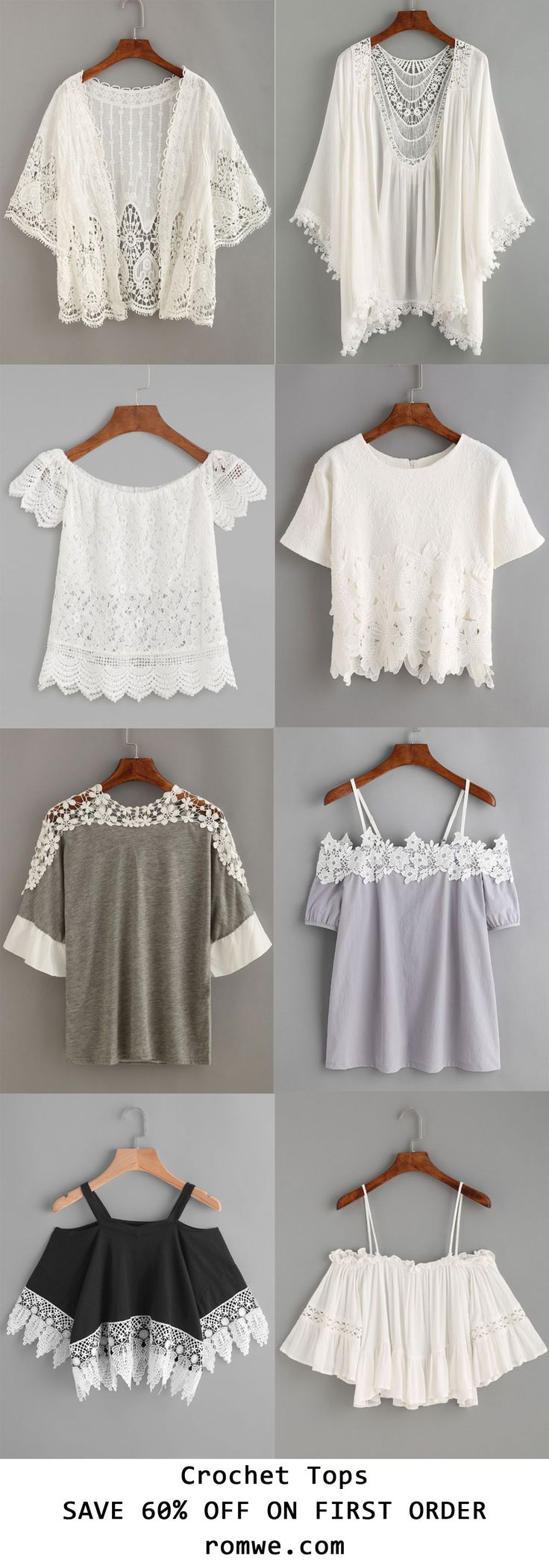 Crochet Tops Collection 2017 - romwe.com