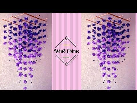 DIY Simple Home Decor - Hanging Flowers 3 - Handmade Decoration - YouTube