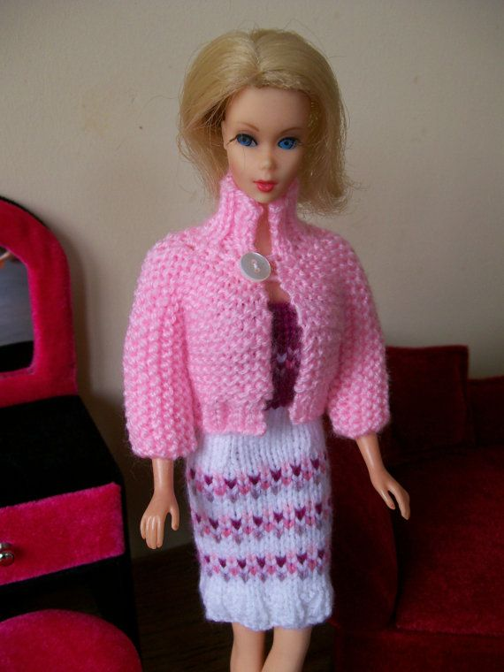 Barbie clothes  pink purple and white dress by HillCrestBarbies, £7.00