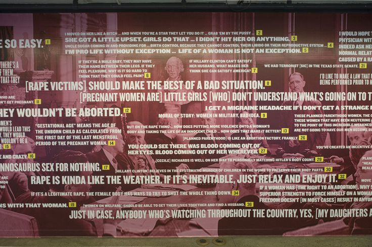 Mural Shows 37 Real And Repulsive Things Politicians Have Said About Women | The Huffington Post
