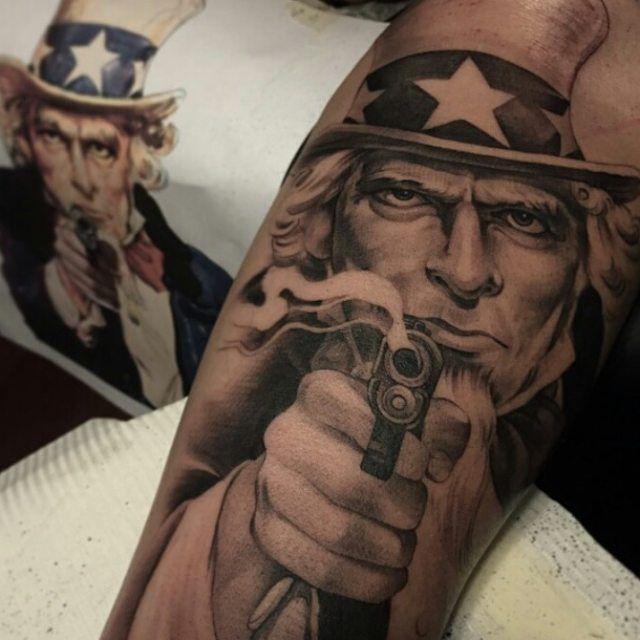 Uncle Sam Sleeve Tattoo | Venice Tattoo Art Designs