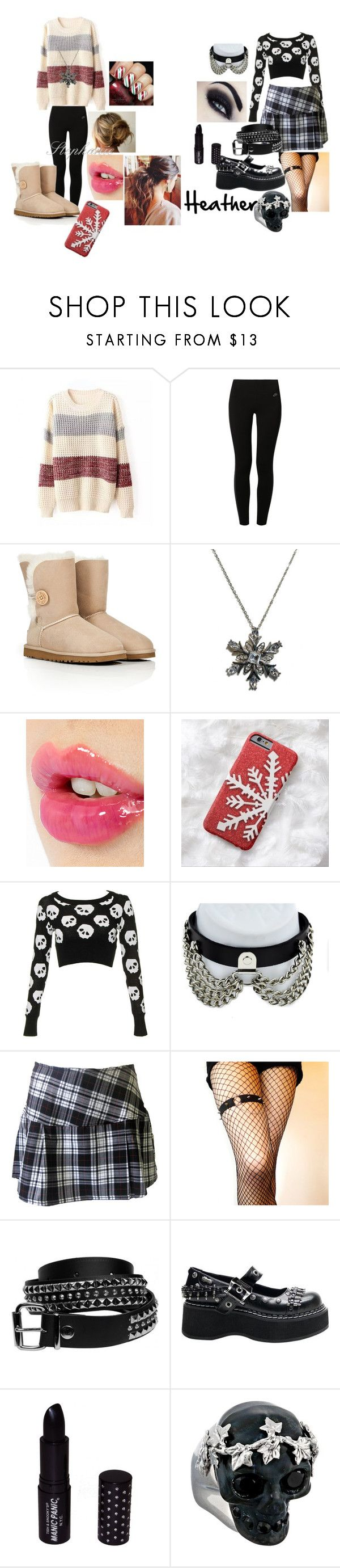 """christmas eve"" by justrin on Polyvore featuring Mode, NIKE, UGG Australia, Charlotte Tilbury, Demonia, Manic Panic NYC und Alexander McQueen"