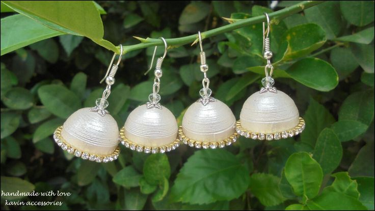 Silver jhumkas in the line  #kavinaccessories#