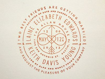 by Keith Davis Young wedding design invitation