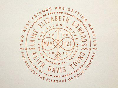 by Keith Davis Young wedding design invitation