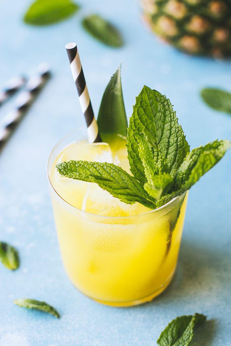 pineapple mint cooler rezept lecker essen getr nke und essen. Black Bedroom Furniture Sets. Home Design Ideas