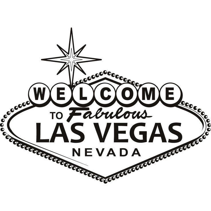 Las Vegas Sign Wall Art Sticker Vinyl Stickers H 50cm W